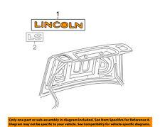 Lincoln FORD OEM 03-06 LS Trunk Lid-Emblem Badge Nameplate 3W4Z5442528AA