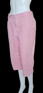 Lee Khakis Pants Pedal 8P Checkered for Women Waistline 30-31 in