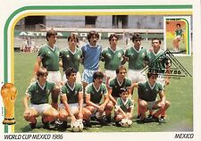(33306) Coppa Del Mondo Calcio Misura Doppia Cartolina Mexico / Mexico 1986