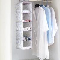 Hanging Shelf Closet Organizer Clothes Storage Wardrobe Rack Hanger Shelves DD