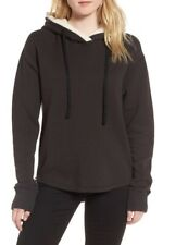 NWT James Perse Women's Fleece Lined Hoodie Carbon, 1 - Small