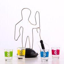 Juego de Beber con 4 vasos de chupito de 25 ml, luz y sonido Alambre Caliente