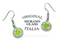 Murano Glass Dropper Earrings Genuine Murano Glass Jewellery Venetian Glass