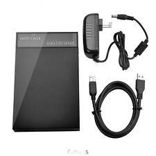 USB 3.0 2.5 3.5'' SATA Hard Drive HDD Disk External Enclosure Case Power Adapter