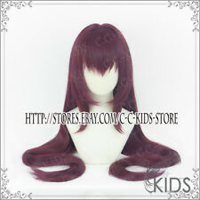 FATE/GRAND ORDER FGO Scathach Cosplay wig costume 110cm