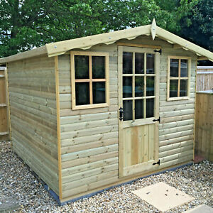 summer house forest garden room shed t&g treated man cave delivery 8-14 weeks