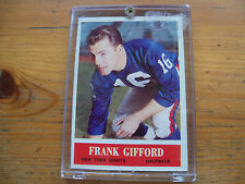 1964 PHILADELPHIA GUM FOOTBALL FRANK GIFFORD CARD # 117 NM CONDITION