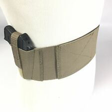 """Glock 43 Olive Tan Belly Band Holster 4"""" Concealed Carry,  USA made"""