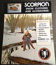 VINTAGE SCORPION SNOWMOBILE CLOTHING & ACCESSORIES BROCHURE 4 PAGES  (903)