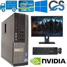 GIOCO veloce dell Bundle Tower PC Set completo sistema di computer Intel i3 8GB 1TB GT710