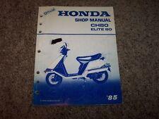 1985 Honda CH80 Elite 80 CH 80 Scooter Moped Original Factory Shop Manual