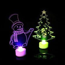 New 3D Led Christmas Shade Table Lamp Santa Art Deco Living Bed Room Light Kids
