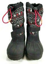 Columbia Girls Black Winter Snow Boots Sz. 1