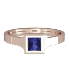 Rose Gold AAA Tanzanite Ring Square Solitaire 18 Carat gold Handmade British
