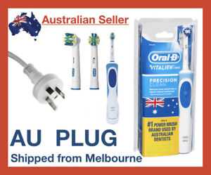 Oral-B Vitality Plus Braun Power Electric Rechargeable Toothbrush + 2 Refills