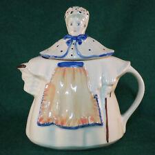 Shawnee Granny Ann Art Pottery Tea Pot w/Lid Pink Blue Apron Flower Hat USA Made