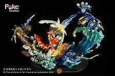 Pokemon Go Poke Studios Groudon VS Kyogre  Figure Zukan Resin Deluxe Model gk