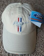 NEW FORD MUSTANG LOGO HAT CAP TAN BEIGE LIGHT BROWN NICE DETAILS UNSTRUCTURED
