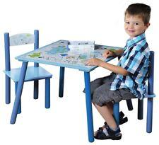 Kesper Kindermöbel Kindertisch mit 2 Stühlen Kindersitzgruppe Blau