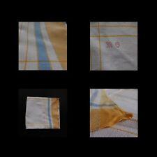 Nappe de table tissu coton art-déco vintage 1940 1960 fait main