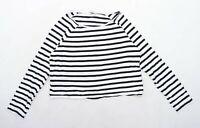 Asos Womens Size M Striped Cotton White Top (Regular)