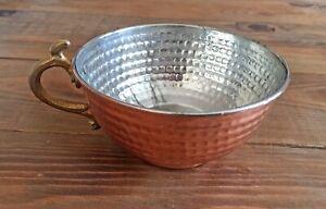 Turkish Hand Hammered Copper Bowl, Shaving Case, Soup-Snack-Cereal-Noodle Bowl
