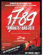 publicité Advertising 117  2012  spectacle musical  Amants de la Bastille 1789