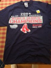 Boston Red Sox World Series Champions 2004 Shirt Size Children Large 14/16 Blue