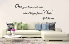 One Good Thing About Music Bob Marley Wall Art Quote Vinyl Decal Sticker Bedroom