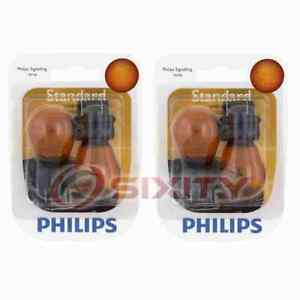 2 pc Philips Front Turn Signal Light Bulbs for Ford Contour Crown Victoria gm