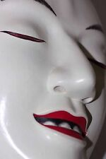JAPANESE NOH NōGAKU THEATRE MASK SEMIMARU BLIND BOY HAND CARVED WOOD DANCE MASK