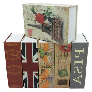 HomeSafe BookSafe Metal Security Safe Money box Hidden Security lock Brand New