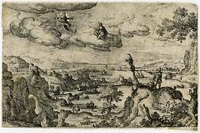 Rare Antique Print-LANDSCAPE-MYTHOLOGY-Bol-ca. 1570