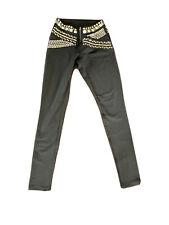 BeBe  Studded Embellished Black Leggings XS
