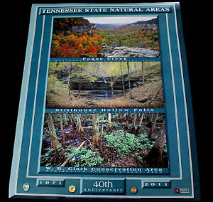 Tennessee State Park 40th Anniversary Pogue Creek Stillhouse Hollow Falls Poster