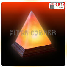 Pyramid Shape Himalayan Salt USB Lamp With LED Bulb And USB Cable