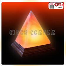 Pyramid Shape Himalayan Salt USB Lamp With LED Bulb And USB Cable