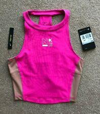 Nike Pro Surf Tanktop Größe XS 6 8 hell rosa nude Cropped Bnwt