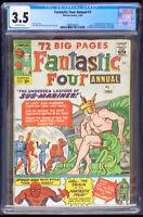 Fantastic Four Annual #1 CGC 3.5 Marvel 1963
