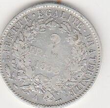 Belle pièce d'argent de 2 Francs Cérès 1888 A en très bel état:  TB