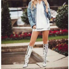 Sexy Modish Wadenhohe Stiefel Damen Boots High Heels 34-48 Nachtclub Schuhe TOP