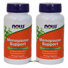 2 x NOW Foods Menopause Support 90 VCaps, Improved Formula, FRESH MADE IN USA