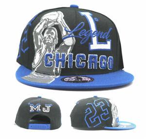 Chicago New Legend Greatest 23 MJ Jordan Bulls Black Blue Era Snapback Hat Cap