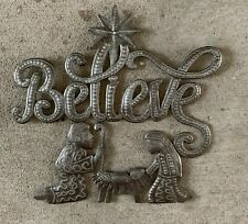 Nativity - Believe Handmade from Steel Oil Drums Fair Trade Haiti
