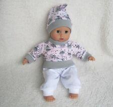 Puppen Kleidung Body /& Mütze Schleife pink Gr.30-55  für alle Puppen