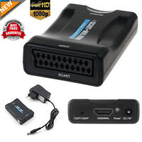 HD 1080P Scart To HDMI Video Audio Upscaler Converter Adapter For TV DVD Sky Box