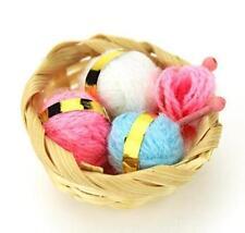 Dollhouse Miniature 1:12 Scale Mini Knitting Wool Balls With Basket Set Craft ✿