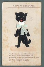 Black Cat  card, Lew Ball, Clinton Road, Far Cotton, Northants,1910,  qb  882
