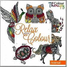 Owl Therapy Art Colouring Book Relax With Colour - Animal Edition ST-9531