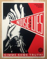 SHEPARD FAIREY   OBEY GIANT   NOISE & LIES (RED)    ED OF 325 SIGNED & NUMBERED